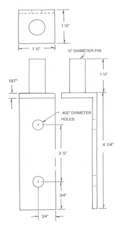 Mill Finish Stainless Steel Bracket Drawing
