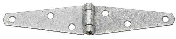 Light Duty Mechanically Galvanized Strap Hinge with Brass Pin
