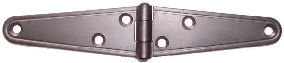 "4"" Satin White Bronze PVD Finish Stainless Steel Strap Hinge"
