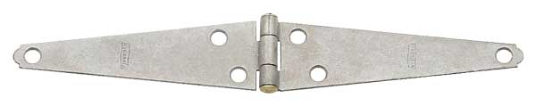 Light Duty Mechanically Galvanized Strap Hinge with Staked Brass Pins