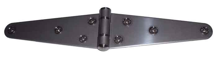 "6"" Mill Finish Stainless Steel Strap Hinge"