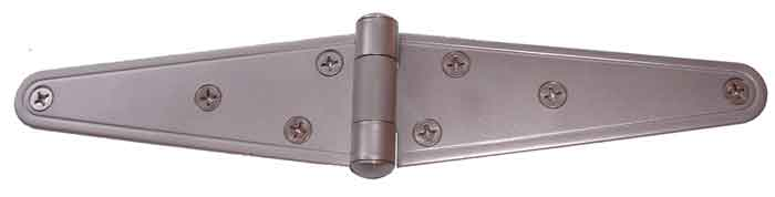 "6"" Matt (Sandblasted) Finish Stainless Steel Strap Hinge"