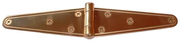 "6"" Polished Gold PVD Finish Stainless Steel Strap Hinge"