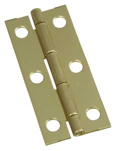 "2-1/2"" x 1-1/8"" x 0.05"" Narrow Miniature Solid Brass Full Surface Hinge"