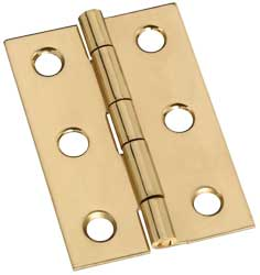 "2"" x 1"" x 0.04"" Broad Miniature Solid Brass Full Surface Hinge"