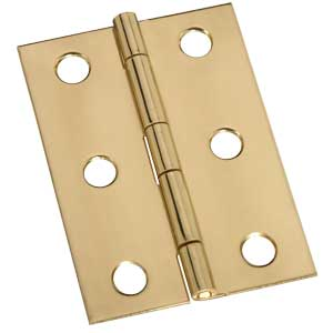 "2-1/2"" x 1-1/8"" x 0.05"" Broad Miniature Solid Brass Full Surface Hinge"