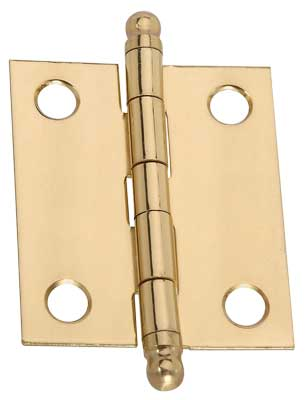 "1-1/2"" x 1-1/4"" x 0.04"" Broad Miniature Solid Brass Full Surface Hinge"