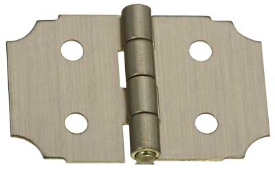 "5/8"" x 1"" x 0.02"" Miniature Decorative Solid Brass Full Surface Butt Hinge with Antique Brass Finish"