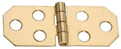 "3/4"" x 1-13/16"" x 0.04"" Miniature Decorative Polished Solid Brass Full Surface Butt Hinge"