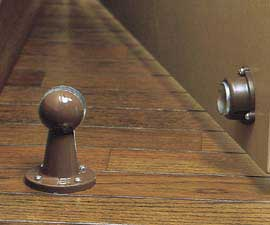 Brown Dome Style Magnetic Door Holder