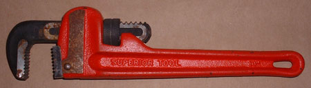 "#401194-  Used 10"" Superior Tool Heavy-Duty Straight Pipe Wrench"