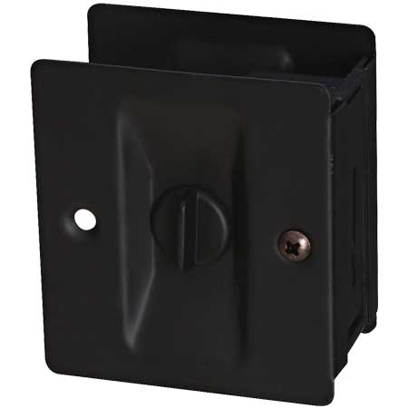 Solid Brass Pocket Door Latch with Oil Rubbed Bronze Finish